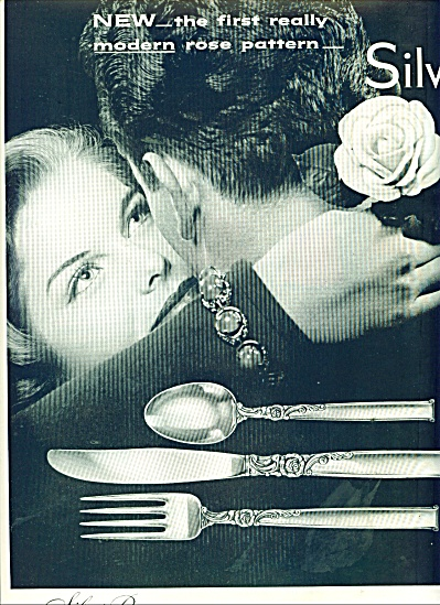 Silver Rose in Hairloom Sterling ad 1956 (Image1)