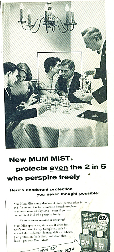 1956 Mum Mist  ad Couple at Dinner (Image1)