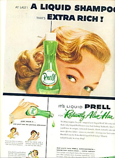 Prell liquid shampoo ad 1956 (Image1)