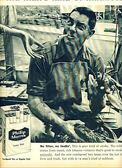 Philip Morris long size cigarettes ad 1957 (Image1)