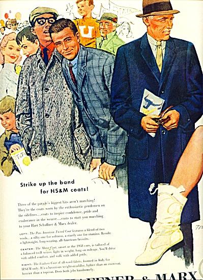 Hart Schaffner & Marx AD 1957 TOM HALL ART (Image1)