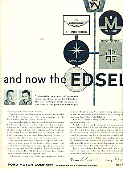 Edsel  automobile - Ford Motor Co. ad1957 (Image1)