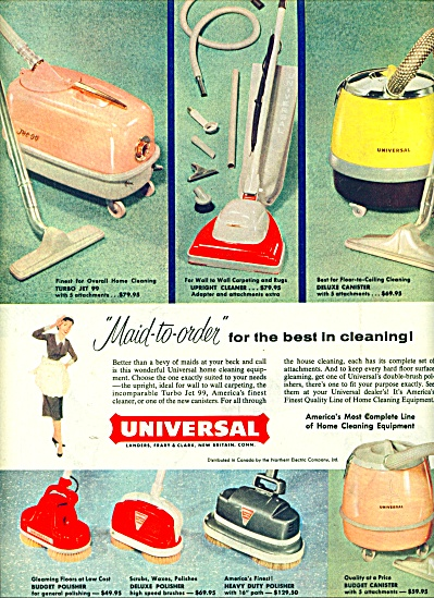 Universal ome cleaning equipment ad 1957 (Image1)