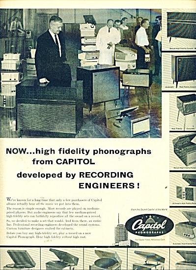 Capital phonographs ad 1957 (Image1)