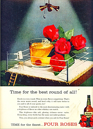 Four Roses whiskey ad 1957 (Image1)