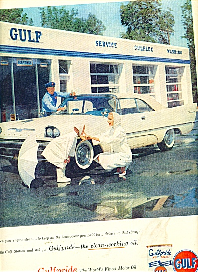 Gulf Gasoline and motor oil ad 1957 (Image1)