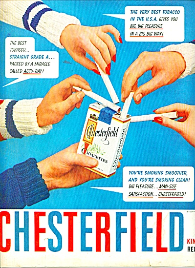 Chesterfield King And Regular Cigarettes