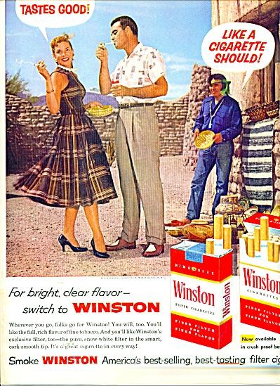 Winston cigarettes ad 1957 (Image1)