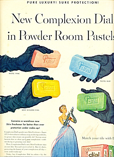 Dial Room Pastels Soap Ad 1958