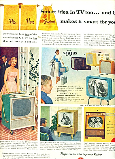 General Electric television sets ad 1956 (Image1)