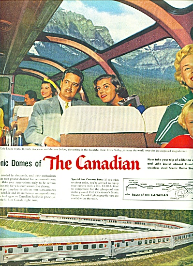1956 Canadian Pacific Scenic dome TRAIN AD (Image1)