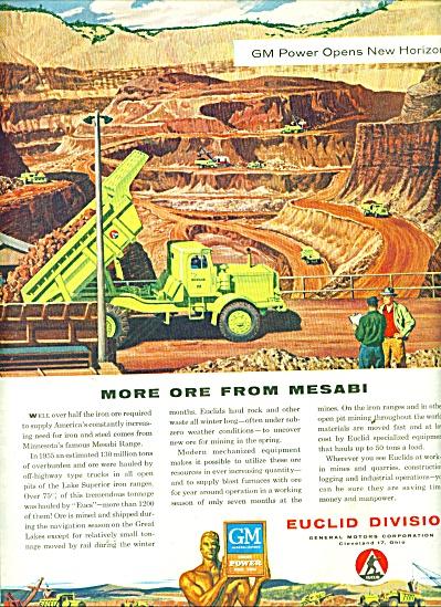 Euclid Division - General Motors Corp. ad1956 (Image1)