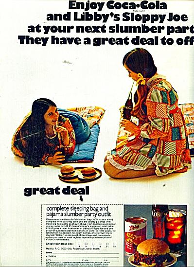 Coca Cola and Libby's Sloppy joe ad 1971 (Image1)
