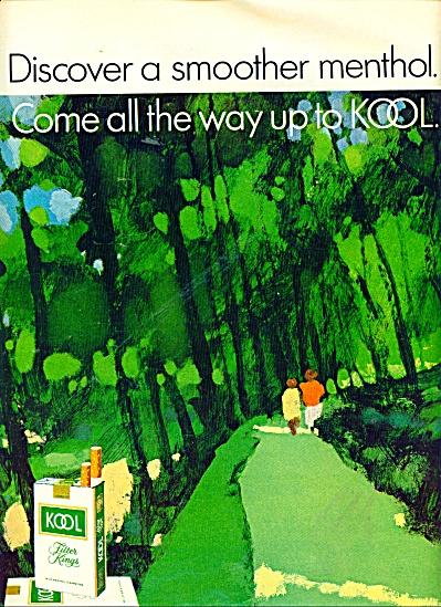 Kool filter kings cigarettes ad 1971 CUNNINGHAM ART (Image1)