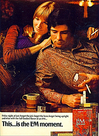 L & M filter kings cigarettes ad 1971 (Image1)