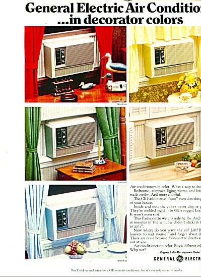 General Electric Air Conditioners Ad 1969