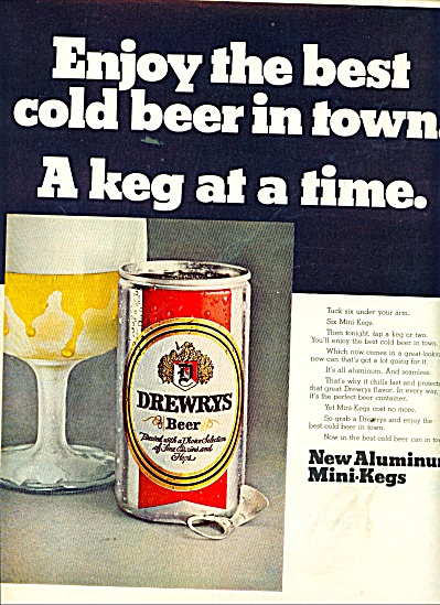 Drewrys beer ad 1969 (Image1)