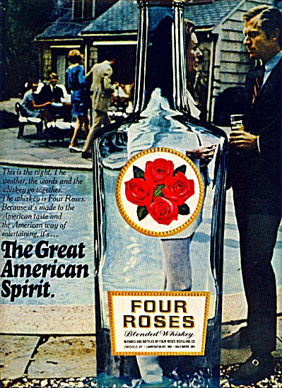 Four Roses blended whiskey ad 1969 (Image1)