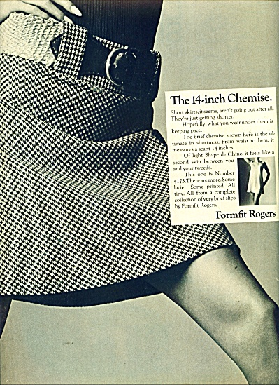1967 Formfit Rogers Chemise Ad