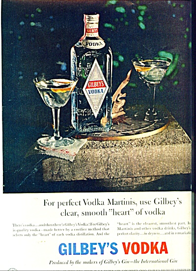 Gilbey's Vodka  & Gin  ad (Image1)