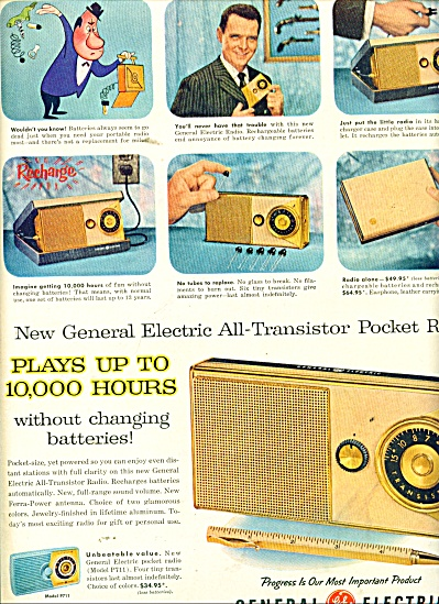 General Electric All Transistor Pocket Radio