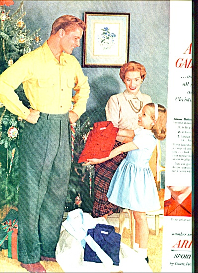 1953 Arrow Sport Shirts Ad Dad For Christmas