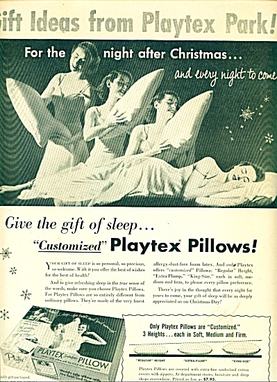 Playtex pillows ad 1953 (Image1)