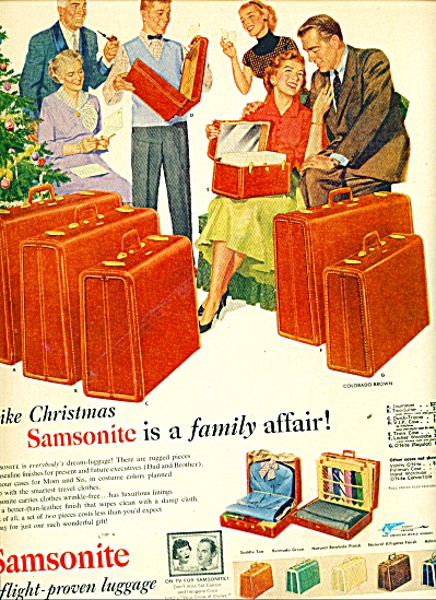 1953 Samsonite Luggage AD FAMILY ARTWORK (Image1)