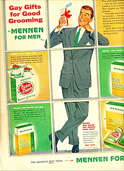1953 Mennen Skin Bracer Ad Gay Gifts Grooming