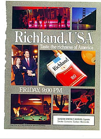 Richland king size cigarettes ad 1989 (Image1)