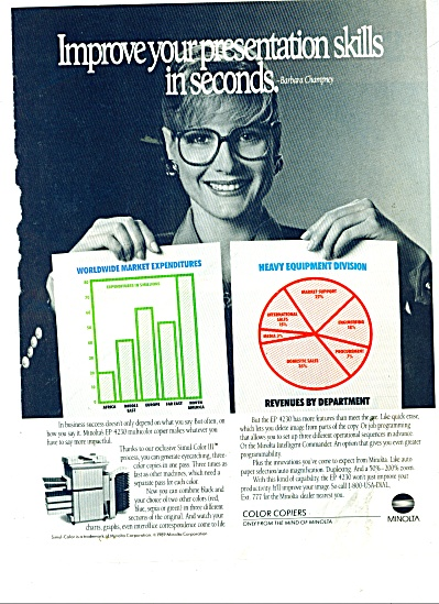 Minolta color copiers ad 1989 (Image1)