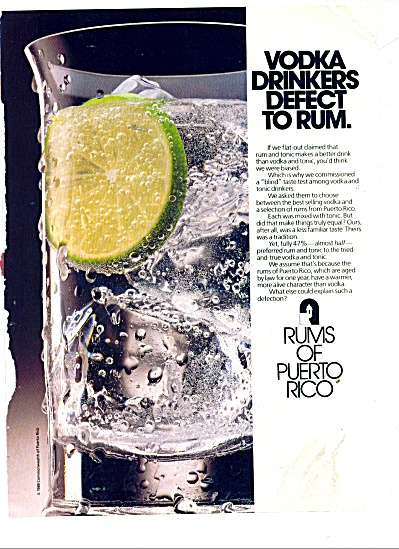 Rums Of Puerto Rico Ad 1989