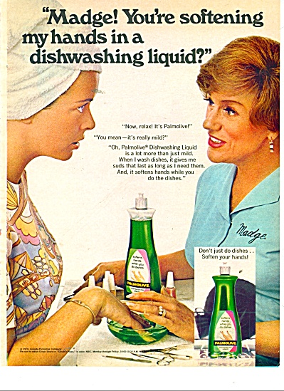 Palmolive dishwashing liquid ad 1971 (Image1)