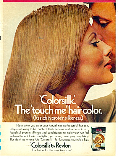 Colorsilk by Revlon ad 1971 EVELYN KUHN (Image1)