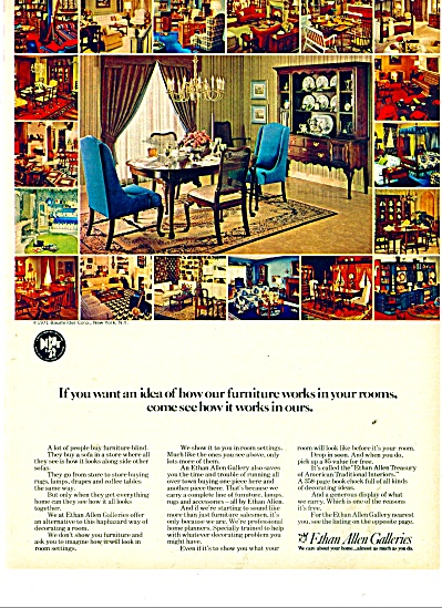 Ethan Allen Galleries ad 1971 (Image1)