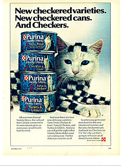 Purina cat food in the cans ad 1971 (Image1)