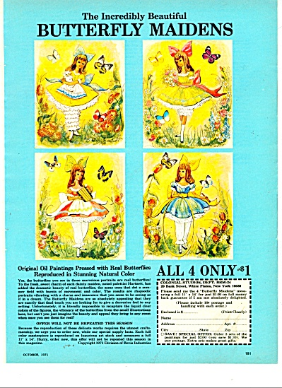 Butterfly Maidens paintings ad 1971 (Image1)