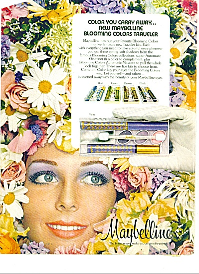 1973 Maybelline KELLY HARMON Model AD (Image1)
