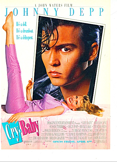 Movie AD PROMO CRY BABY  with JOHNNY DEPP (Image1)