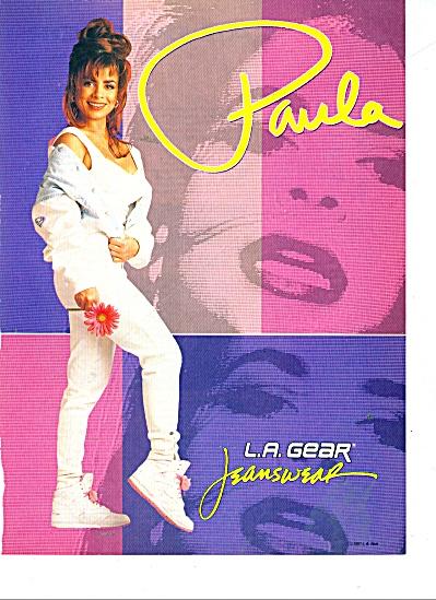 1991 L.A. Gear Jeanswear ad PAULA ABDUL (Image1)