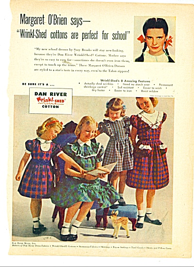 Dan River clothers  = MARGARET O'BRIEN AD (Image1)