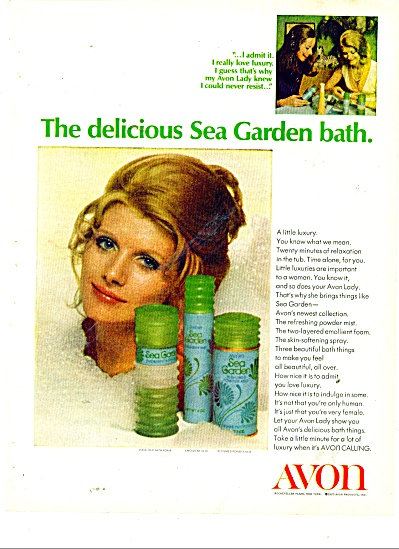 Avon products - Sea Garden bath ad 1970 (Image1)