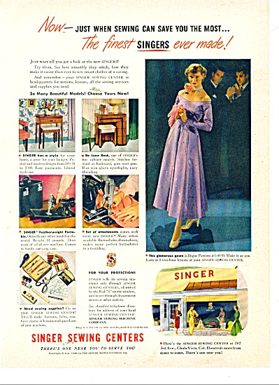 Singer Sewing centers ad VOGUE Evening Gown (Image1)
