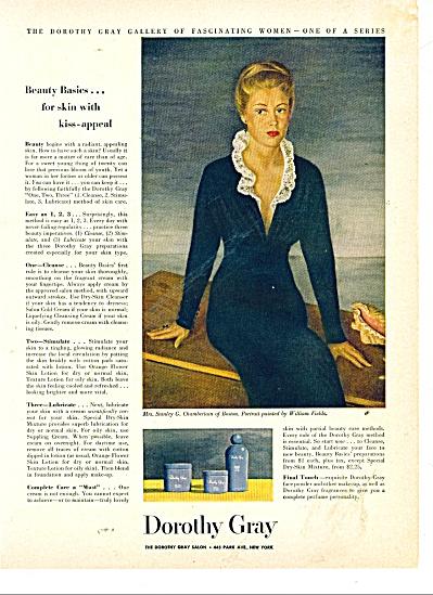 Dorothy Gray Salon ad Mrs Stanley Chamberlain (Image1)