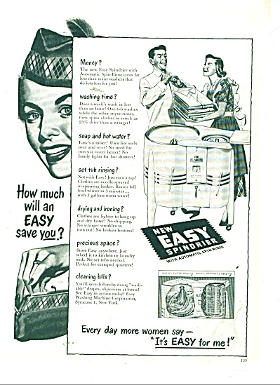 Easy spindrier ad  1949 (Image1)