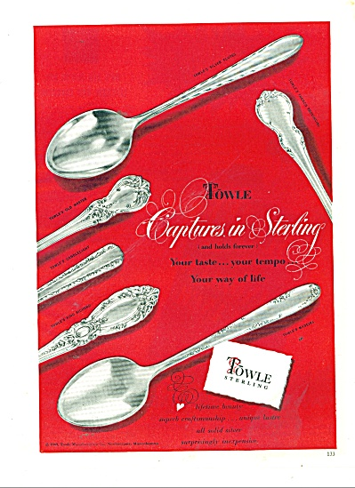 Towle Sterling Ad 1949
