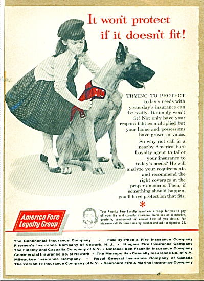 American Fore Loyalty group Insurance ad 1959 (Image1)