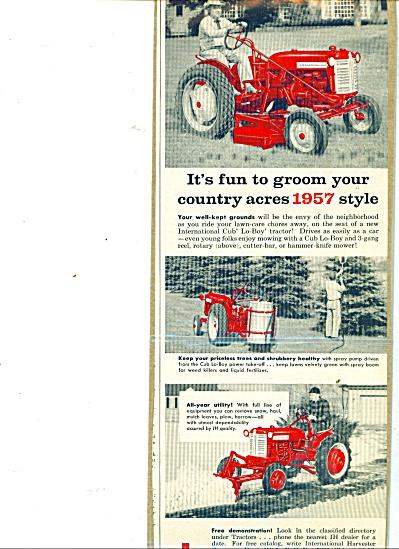 Internation cub lo-boy tractor ad  1957 (Image1)