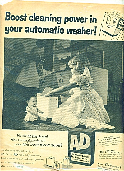 Colgate Ad Detergent ;for Automatic Washers