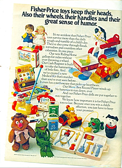 Fisher Price toys ad 1977 (Image1)